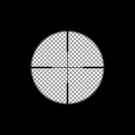 Sniper scope overlay on the transparent background. Vector, isolated, eps 10