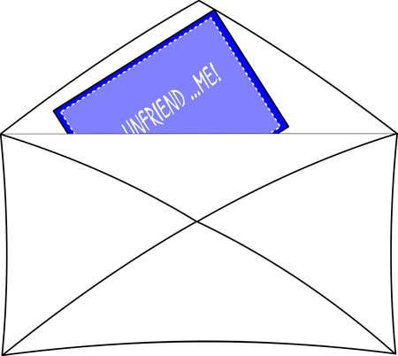 unfriend me message  with envelope