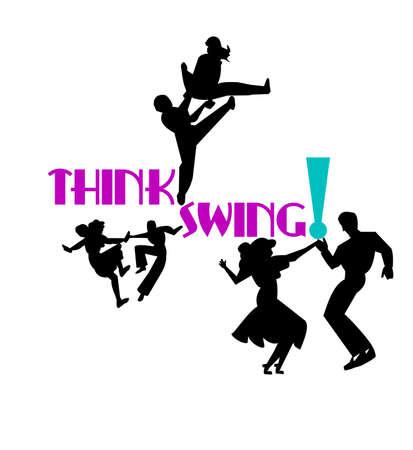think swing dancers
