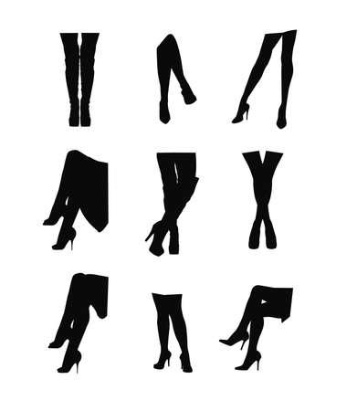 womans legs in silhouette