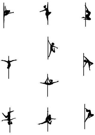 pole dancers set