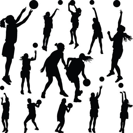Vektor für basketball woman player - Lizenzfreies Bild