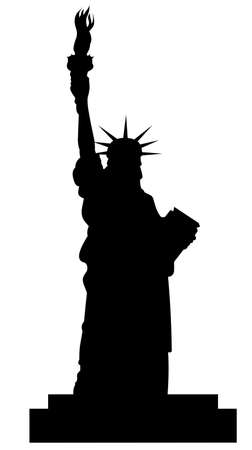 statue of liberty silhouette vector file