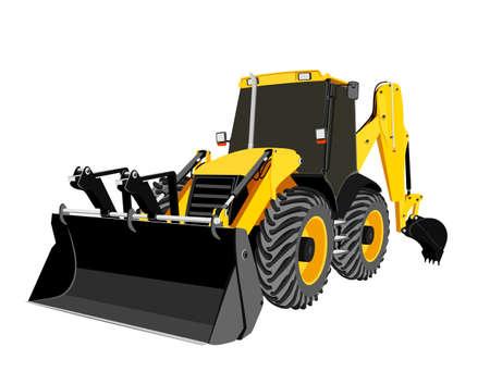 earth-moving bulldozer