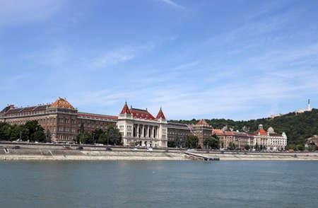Danube riverside with Gellert hill Budapest