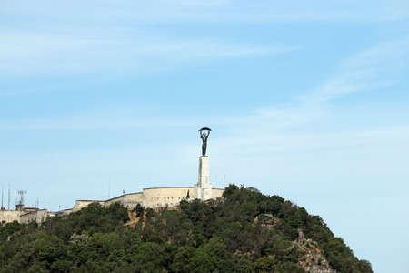 Liberty statue Gellert hill Budapest landmark