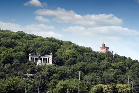 Saint Gellert statue on the Gellert hill Budapest Hungary