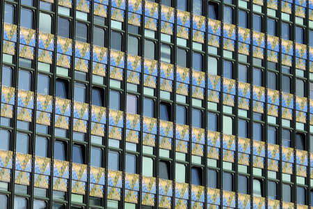 Photo for building facade wall and windows detail Vienna Austria - Royalty Free Image