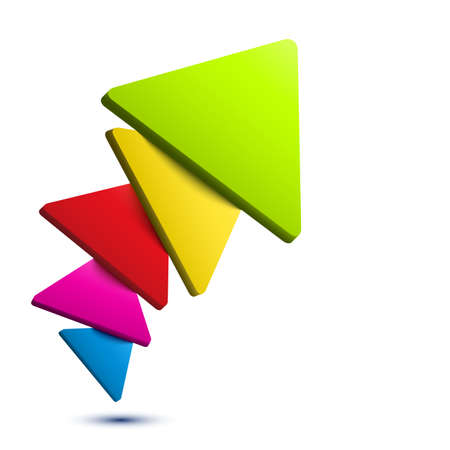 Colorful 3D triangle background