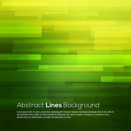 Ilustración de Green vector abstract background with lines for your design - Imagen libre de derechos