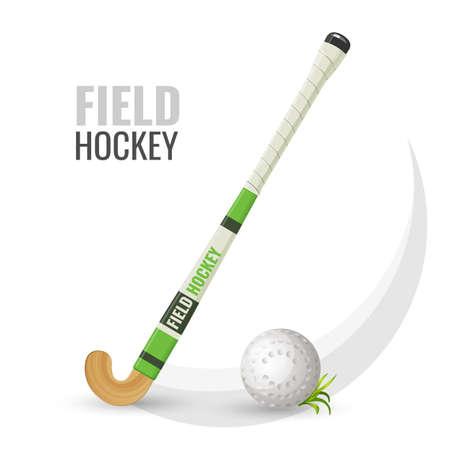 Foto für Field hockey competitive game and equipment vector illustration - Lizenzfreies Bild