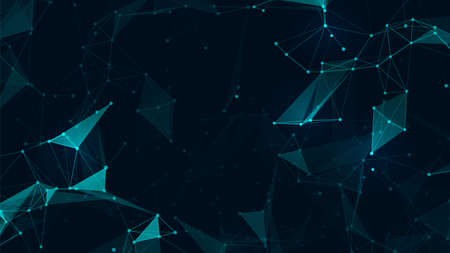 Illustration pour Abstract connect polygon and lowpoly geometric space futuristic background. Vector illustration for web design - image libre de droit