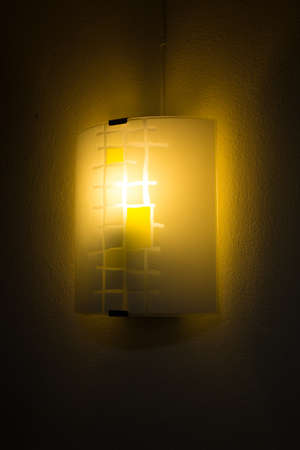 A lantern shine attaching with the wall of my bedroom