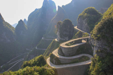 Foto de The way to reach a heaven door at Zhangjiajie of China - Imagen libre de derechos
