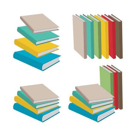 Illustration pour Book Flat style, isometric drawing books vector illustrations collection. Part of set. - image libre de droit