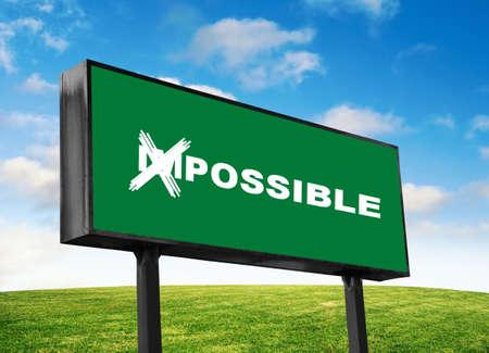 Photo pour Possible wording on the green billboard - image libre de droit