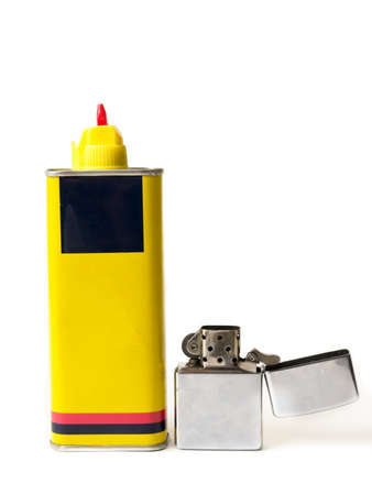 Foto de Old lighter with the fuel refill - Imagen libre de derechos
