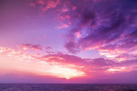 Sunset. blue sky and clouds. Beauty natural background