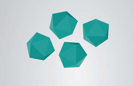 Abstract origami polygon
