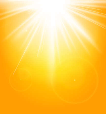 Summer natural background with sun