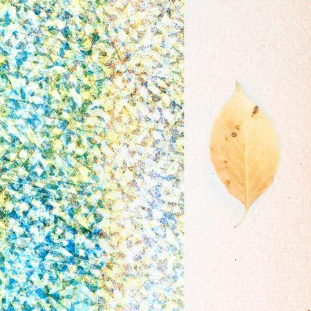 flower poetry - vintage leaf on paper background