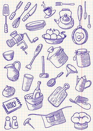 Kitchen doodles set