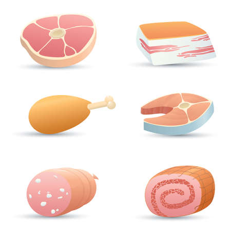 Food icons (meat). Part 2