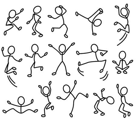 The stylised contours of people in movement. Part 2