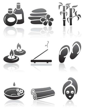 Illustration for Minimalistic SPA icons set - Royalty Free Image