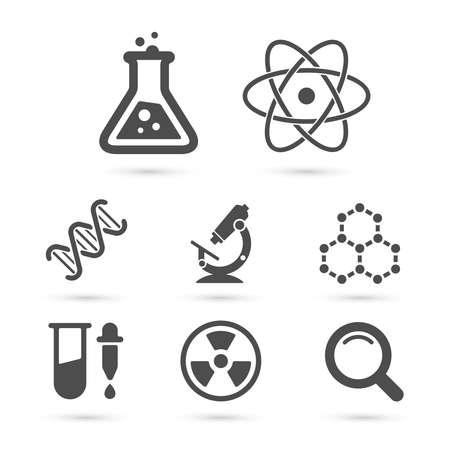 Ilustración de Science trendy icons pack. Vector elements - Imagen libre de derechos