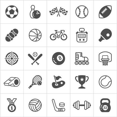 Illustration pour Trendy sport flat trendy icons.  Vector illustration - image libre de droit