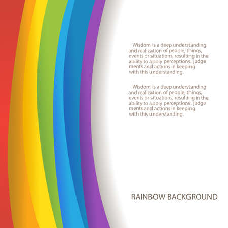 Foto de rainbow background with custom text copy place - Imagen libre de derechos