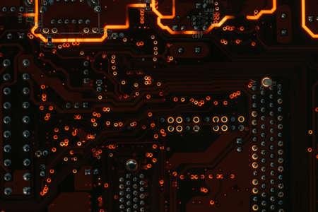 Foto de printed circuit board. electronic components and hardware programming. - Imagen libre de derechos