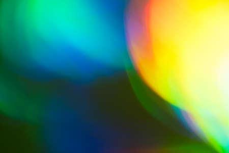 Photo pour Colorful bokeh light spots. Bright lens flare blurry soft background. Night lanterns. - image libre de droit
