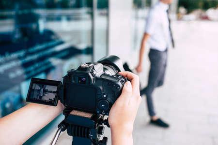 photography equipment dslr camera backstage photographer lifestyle concept