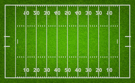 Illustration pour American football field with grass texture. Vector EPS10 illustration. - image libre de droit