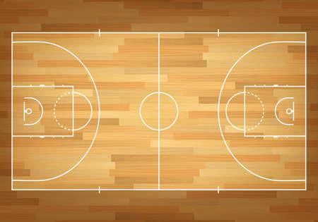 Basketball court on top. Vector EPS10 illustration.