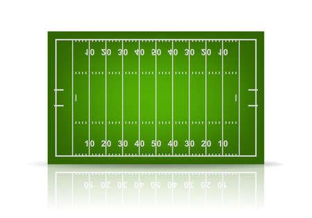 Illustration pour 3d american football field. Vector EPS10 illustration. - image libre de droit