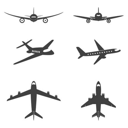 Illustration pour Vector isolated plane icons set. Vector EPS8 illustration. - image libre de droit