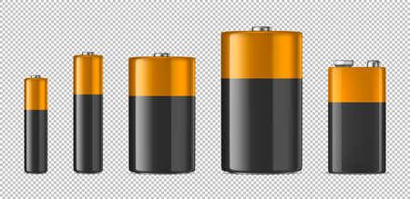 Illustration pour Alkaline battery icon set. - image libre de droit
