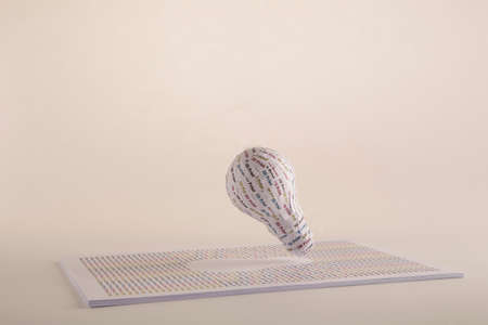 CYMK 3D Printing concept  lightbulb, from idea to solid model