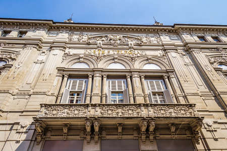 PARMA, ITALY – AUGUST 23, 2018: Dust and dirt cover the sign of the  Italian post agency