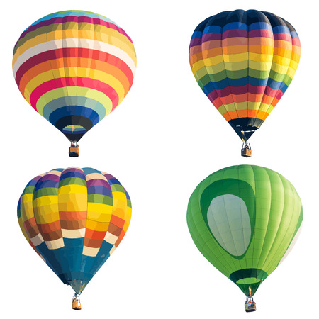 Colorful hot air balloon isolated on white background, vector format