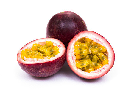 Photo pour Passion fruit on white background - image libre de droit