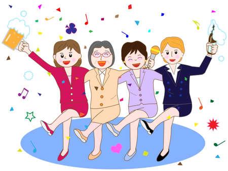 Women's Association at the banquet
