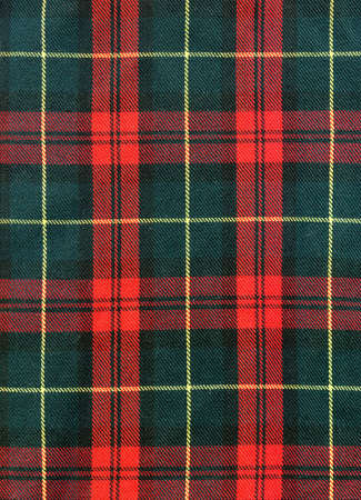 Close-up of traditional scottish checked material