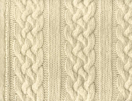Close-up of a piece of knit fabric
