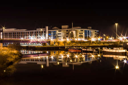 Night panorma od Doncaster College nad Marina