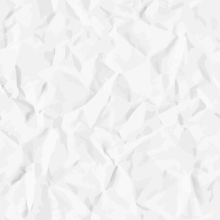 Illustration pour Realistic seamless pattern of crumpled (creased) paper. Vector texture for background - image libre de droit