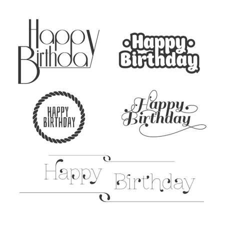 Set of Happy Birthday